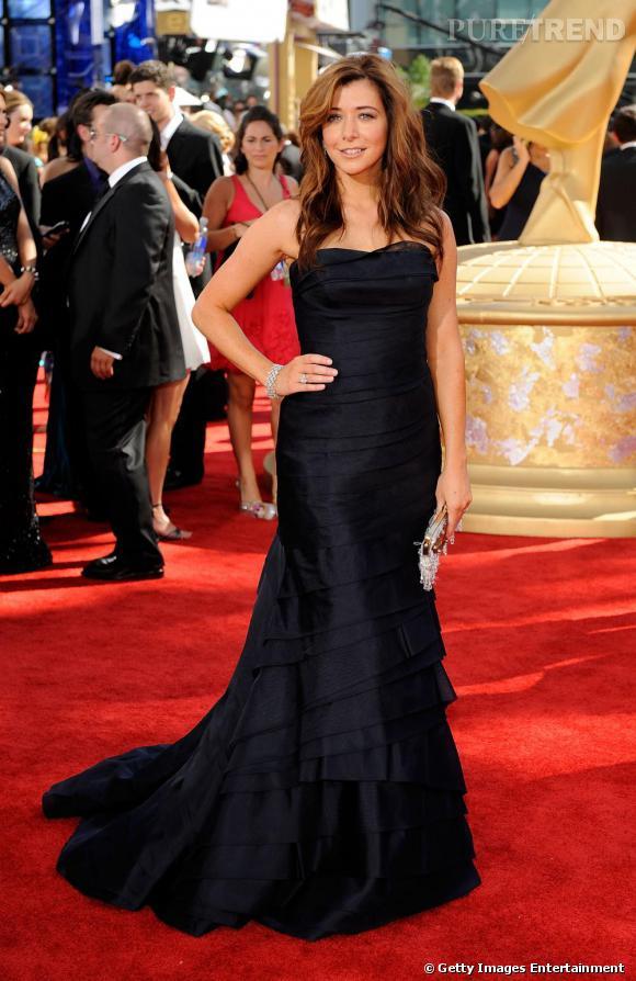 La longue robe bustier :  sur red carpet l'actrice sait parfaitement comment être glamour et remarquable.