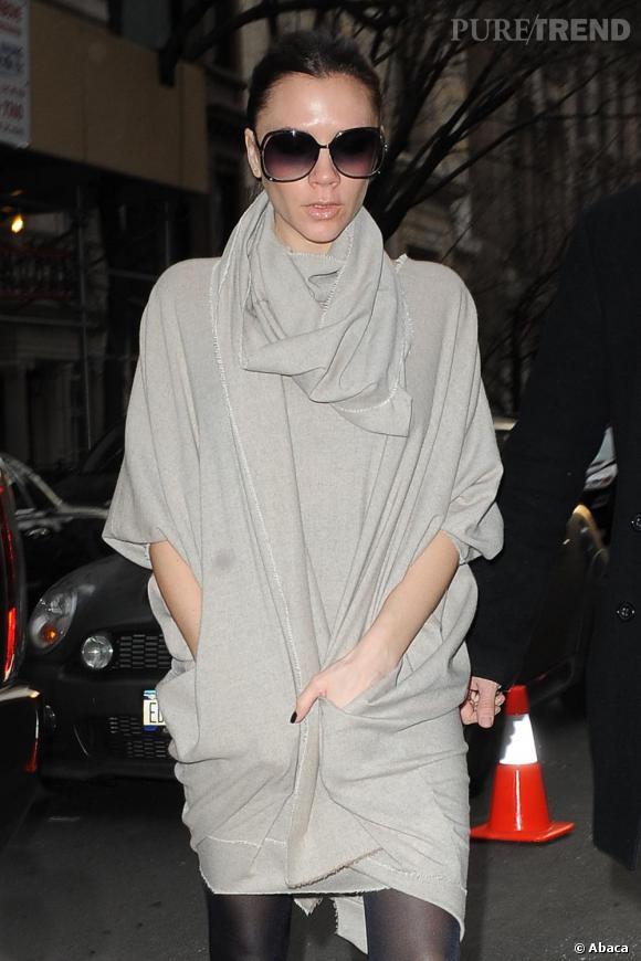 Victoria Beckham à la présentation de sa collection, en marge de la Mercedes Benz Fashion Week à New-York.