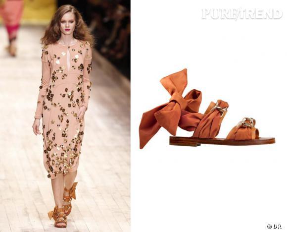 Les it-shoes de l'été 2011 : les sandales platesDéfilé Sonia Rykiel printemps-été 2011.Sandales Sonia Rykiel, 430€.Renseignements sur Soniarykiel.com
