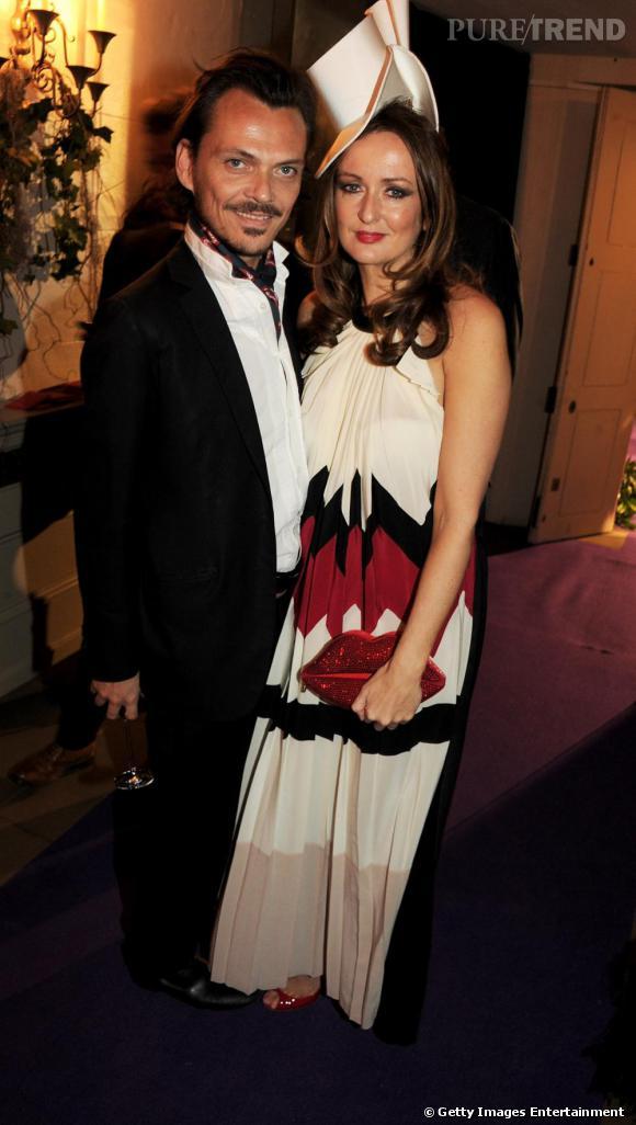 Le créateur Matthew Williamson et une des organisatrices, Lucy Yeomans du  Harper Bazaar's .