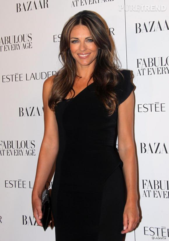 """Elizabeth Hurley lors de la soirée """"Fabulous at every age"""" organisée par Estée Lauder et le """"Harper's Bazaar"""", à New York."""
