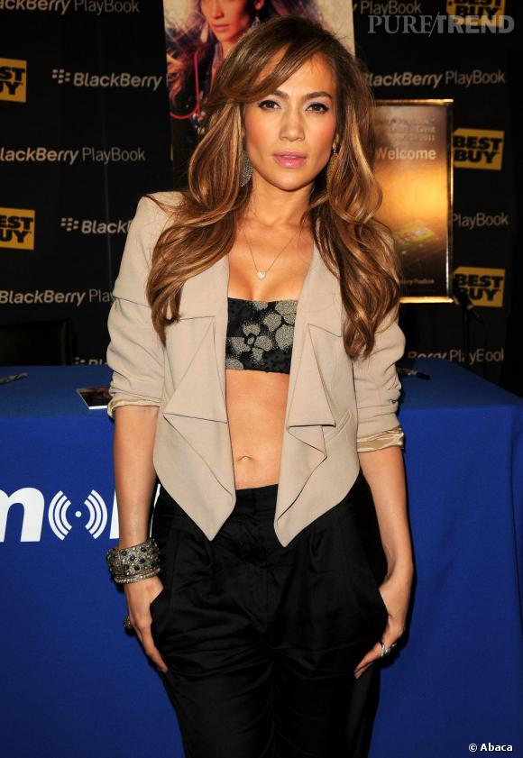 Jennifer Lopez lors du lancement du Blackberry Playbook à Los Angeles.
