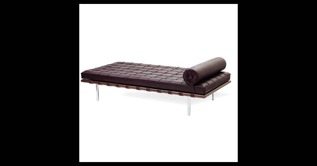 lit de repos barcelona mies van der rohe pour knoll un divan vintage dat des ann es 30 et. Black Bedroom Furniture Sets. Home Design Ideas