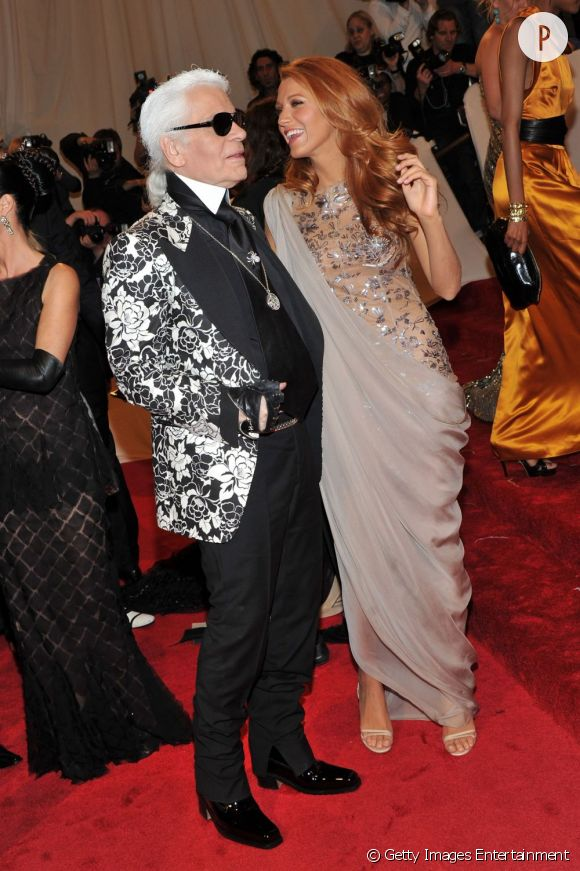 Blake Lively et Karl Lagerfeld, complices au MET 2011.
