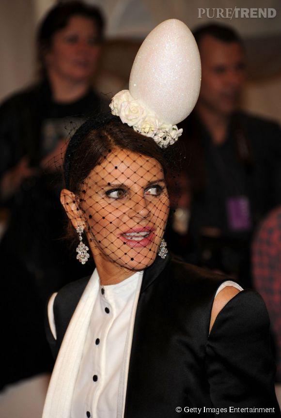 Anna Dello Russo, toujours dans l'ambiance Pâques.