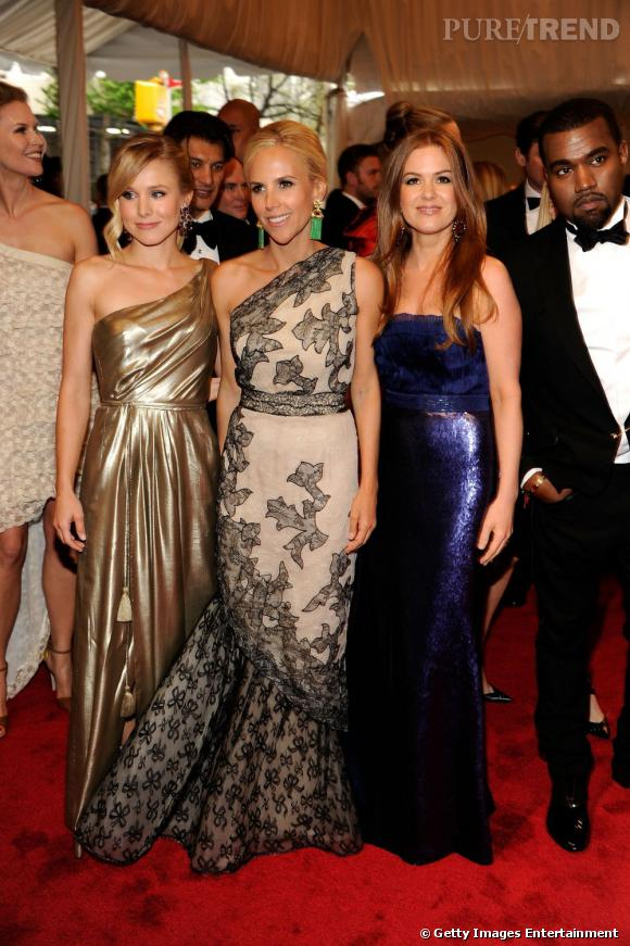 Kristen Bell, Tory Burch, Isla Fisher et Kanye West.
