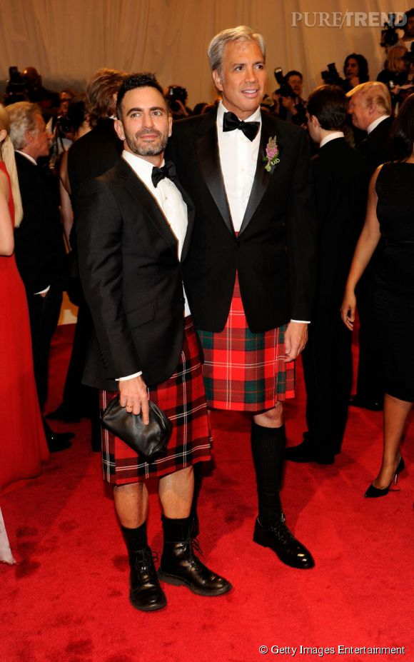 Marc Jacobs et Robert Duffy en kilt.