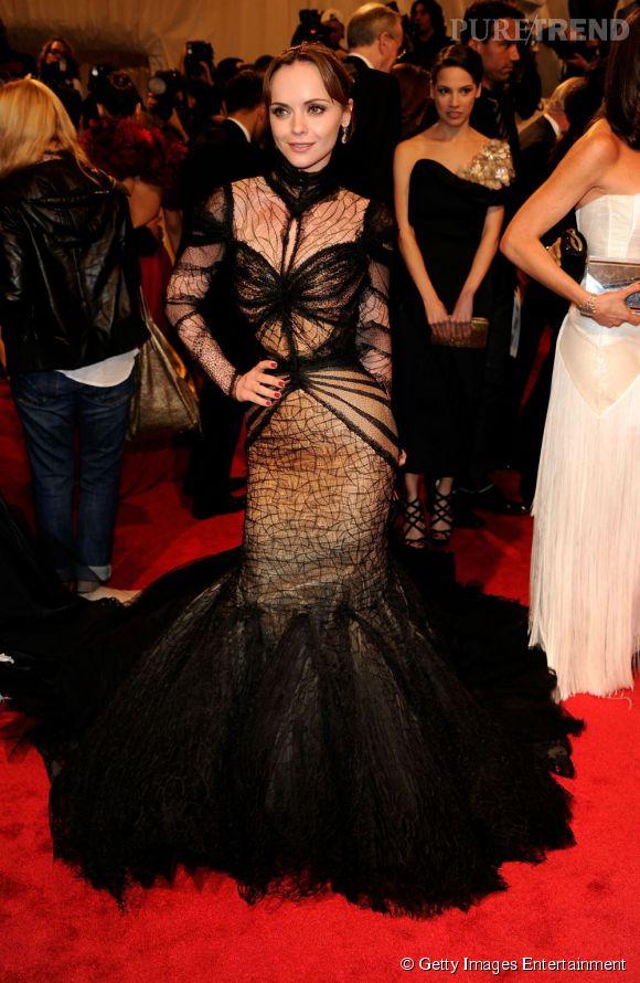 Christina Ricci, vamp couture.