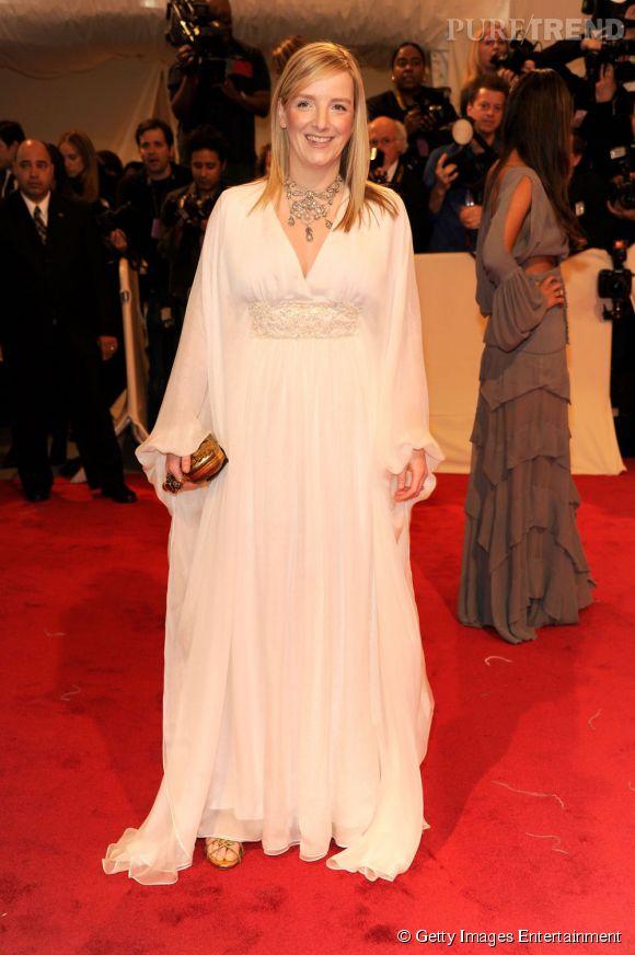 Sarah Burton, styliste qui a fait la robe de Kate Middleton.