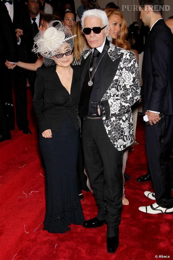 Karl Lagerfeld et Yoko Ono.