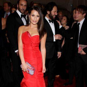 Léa Michele, rouge passion.