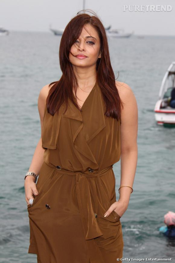 "Aishwarya Rai au photocall de son nouveau film ""Heroïne""."