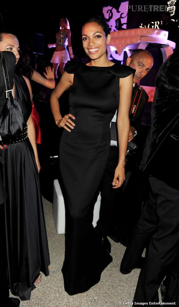 Rosario Dawson lors de la soirée de Grisogono, à Cannes.