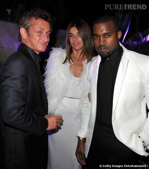 Sean Penn, Carine Roitfeld et Kanye West... Un casting de choc pour le dîner de l'Amfar.