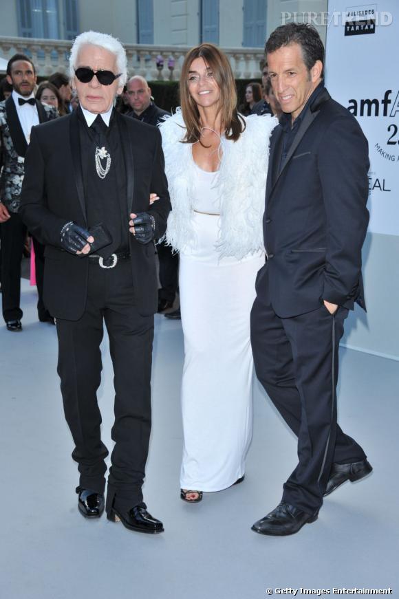 Karl Lagerfeld, Carine Roitfeld et le styliste Kenneth Cole.