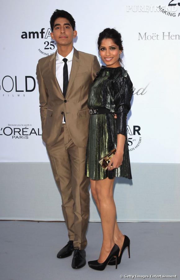Le beau couple Dev Patel et Freida Pinto, toujours aussi chic.