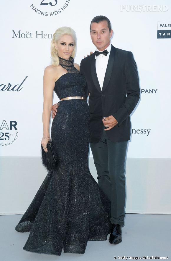 Gwen Stefani, éblouissante et son mari Gavin Rossdale.
