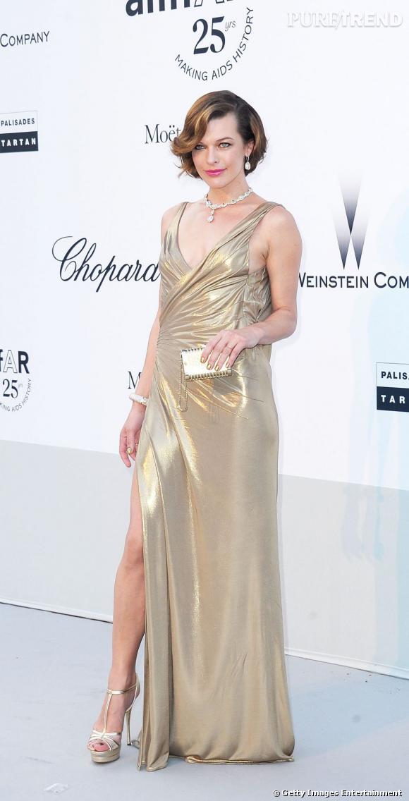 Milla Jovovich, princesse dorée.