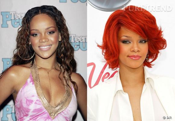 L'évolution coiffure de Rihanna