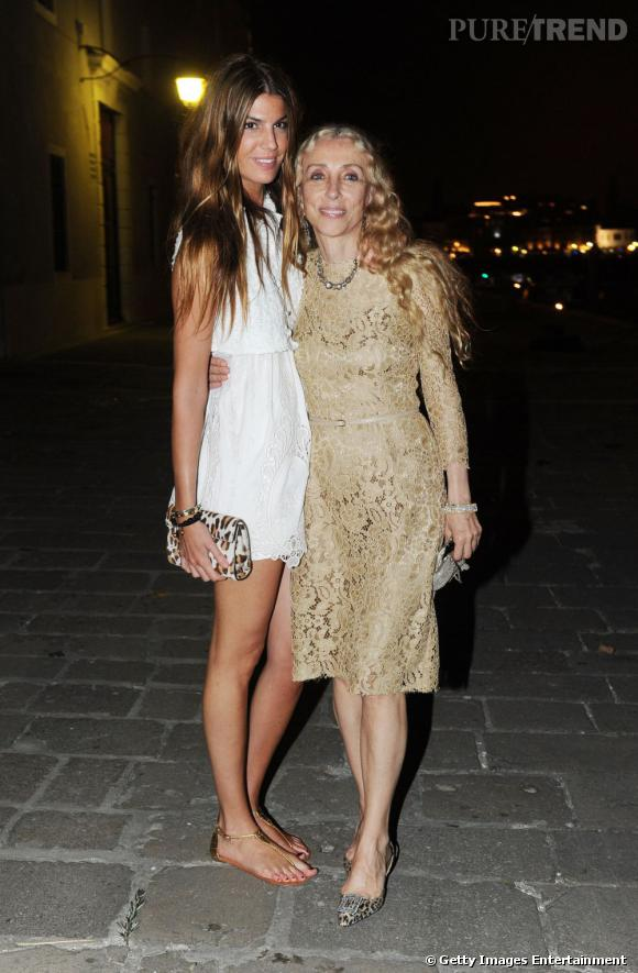Bianca aux côtés de Franca Sozzani.