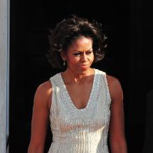 Michelle Obama, chic et on ne peut plus féminine.