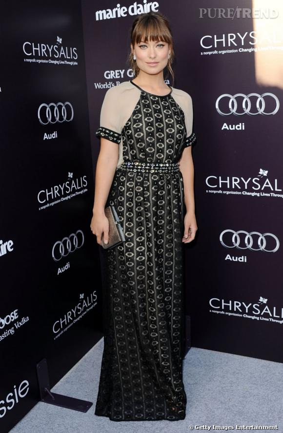 "Olivia Wilde, la charmante assistante du Dr House au ""Chrysalis Butterfly Ball"" 2011."
