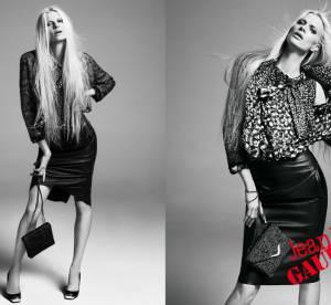 Kristen McMenamy chic pour Jean Paul Gaultier