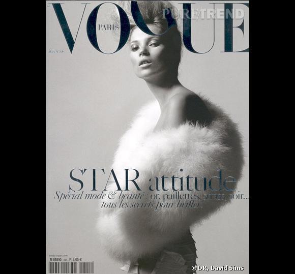 Kate Moss pour le Vogue Paris, mars 2004.