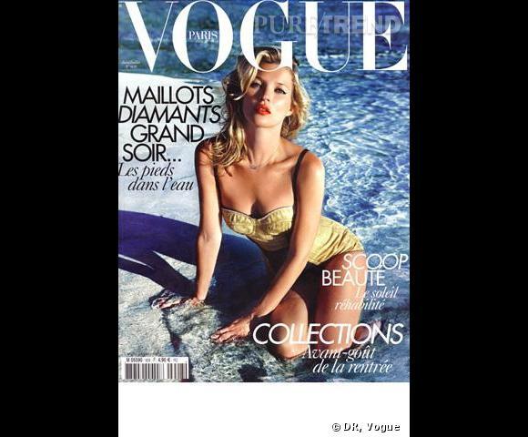 Kate Moss pour le Vogue Paris, juin/juillet 2010.