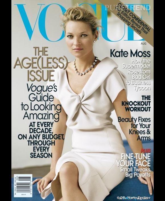Kate Moss pour le Vogue US, août 2008.