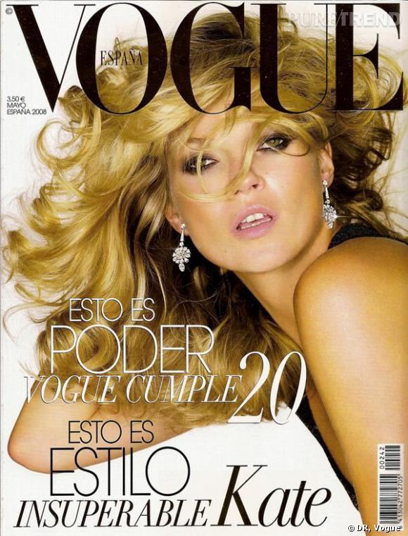 Kate Moss pour le Vogue Espagne, mai 2008.