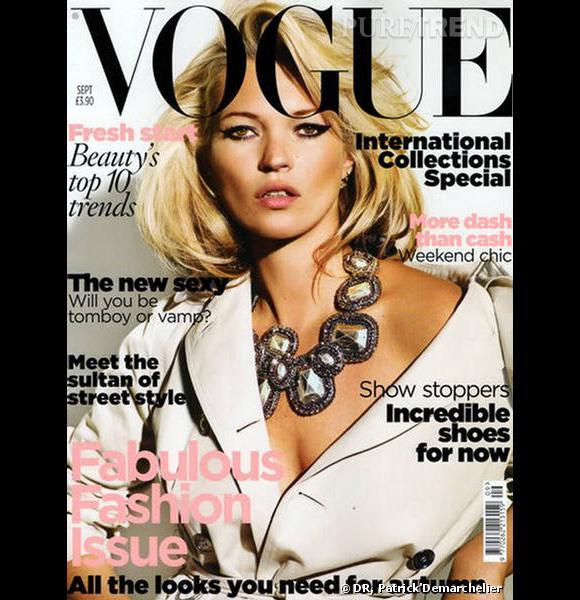 Kate Moss pour le Vogue UK, septembre 2010.