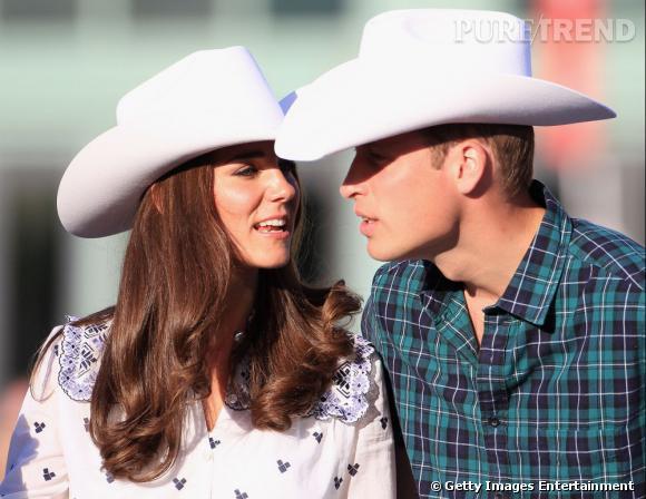 Kate Middleton lors d'une présentation de rodéo au Canada.