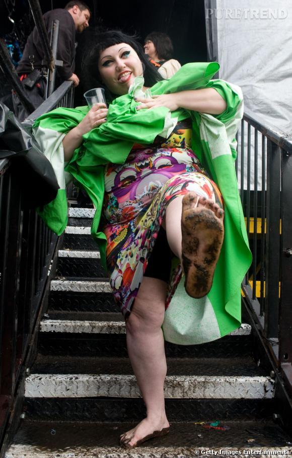 Beth Ditto au Festival Lovebox, à Londres.