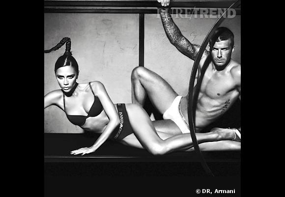 Le top pose : pour une campagne Armani avec sa belle. Là, on dit oui !