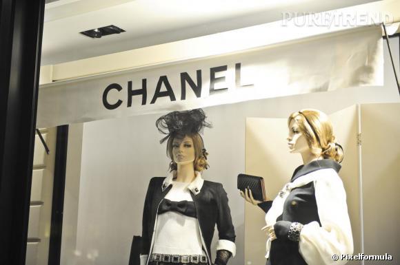 Boutique Chanel, avenue Montaigne Paris.