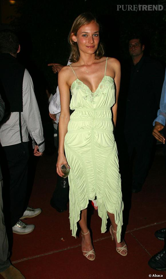 Déjà en 2002, Diane Kruger cultivait son style.