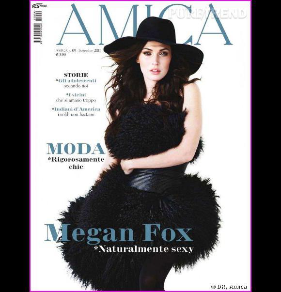 """Megan Fox, sublime en couverture du magazine """"Amica"""" du mois de spetembre."""