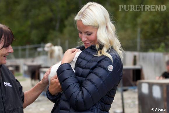 La Princesse Mette-Marit à la fondation Tyrilistiftelsen Frankmotunet à Folldal en Norvège.