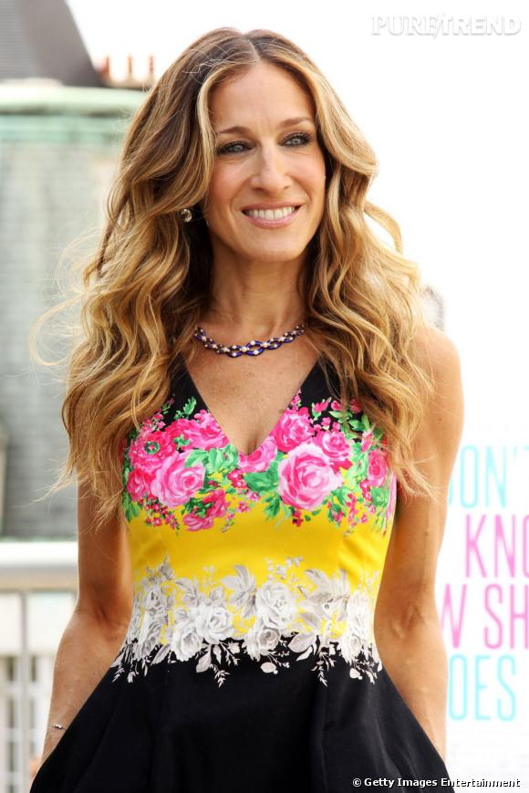 """Sarah Jessica Parker lors du photocall londonien du film """"I Don't Know How She Does It""""."""