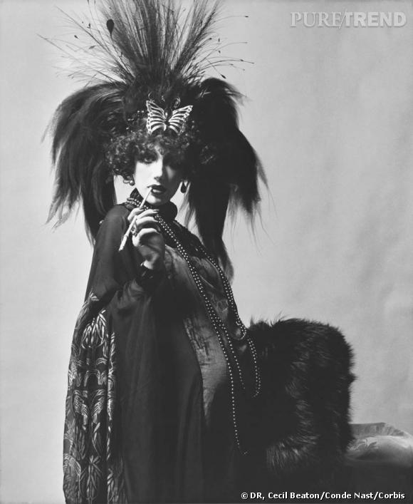 Marisa Berenson costumée en Marquise Luisa Casati Stampa au bal Proust.