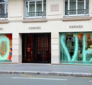 Le dossier du jour : Hermes tagué par le graffeur Kidult