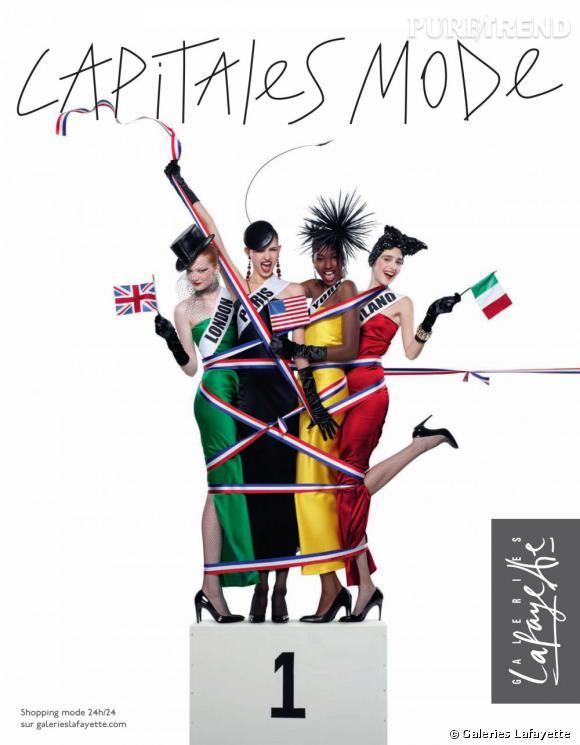 Les Galeries Lafayette organisent le plus grand défilé de mode du monde.