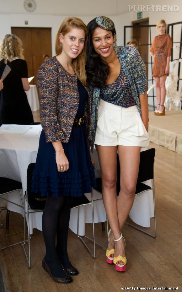 Princesse Beatrice d'York et la designer Saloni lors de la présentation de la collection Printemps-Été 2012 Saloni.