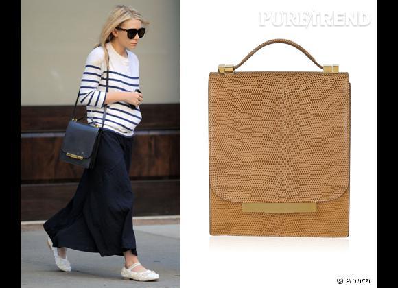 Wanted : les sacs The Row des soeurs Olsen !    Le nouveau it-bag d'Ashley Olsen  :  le sac The Row, la marque qu'elle a créée avec sa jumelle Mary Kate .
