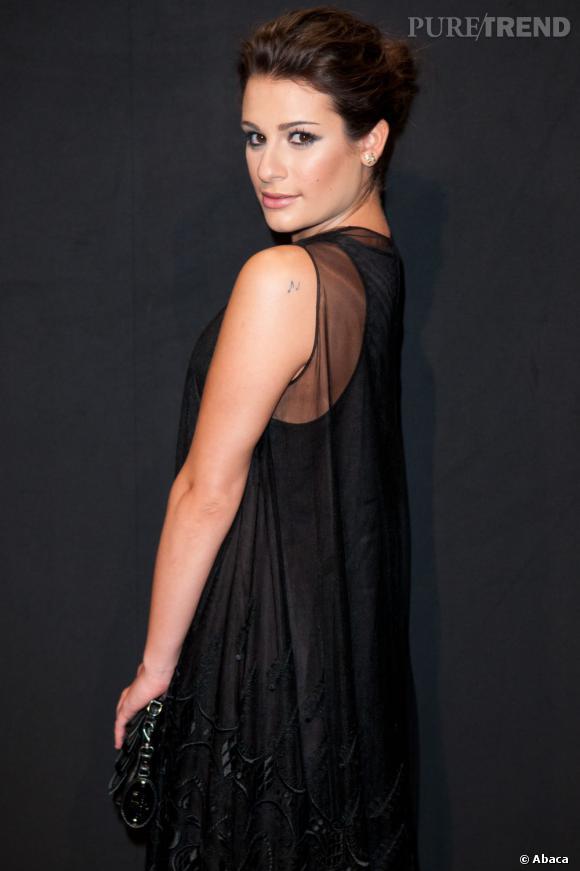 Lea Michele lors de la soirée Hogan by Karl Lagerfeld organisée à Paris.
