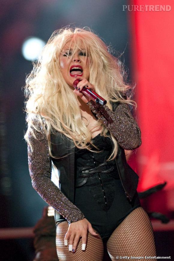Christina Aguilera au concert hommage à Michael Jackson à Cardiff.