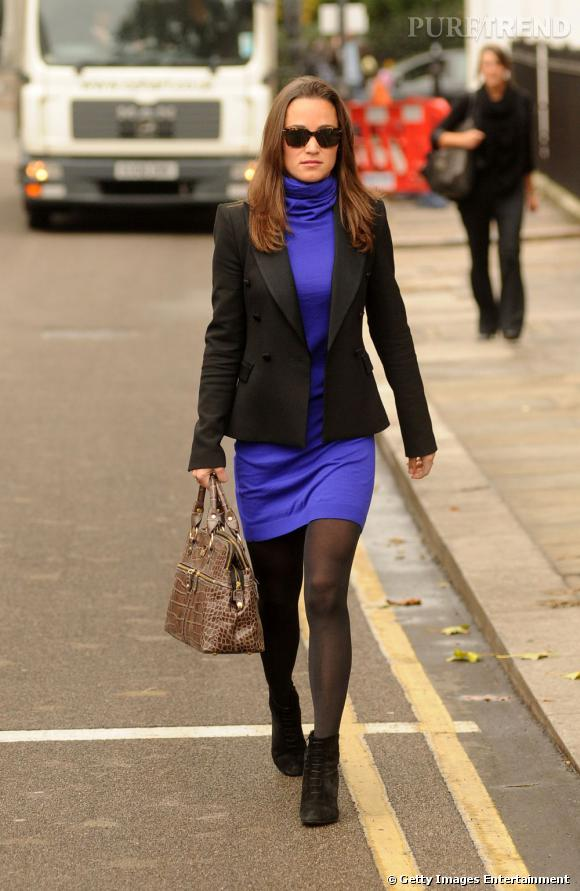 Pippa Middleton en balade dans les rues de Londres.