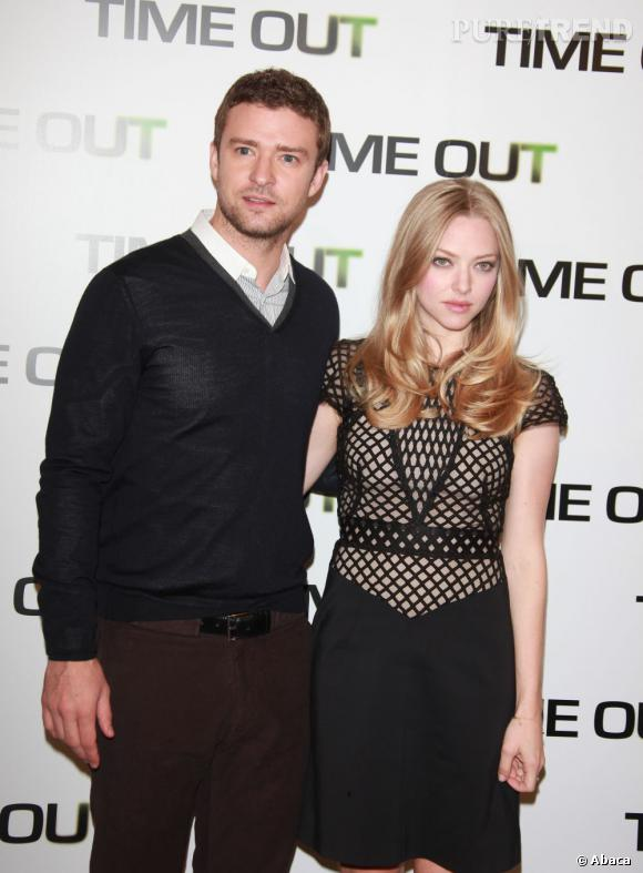 """Justin Timberlake et Amanda Seyfried, duo complice pour """"Time Out""""."""