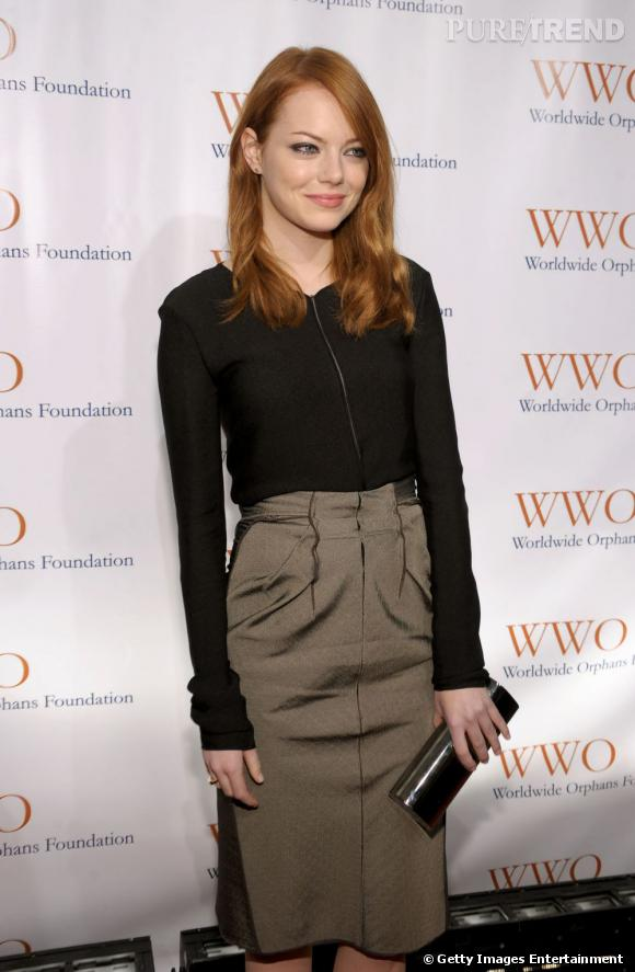 Emma Stone lors du Orphans Foundation's Seventh Annual Benefit Gala à New York.